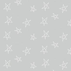 hand drawn stars - grey