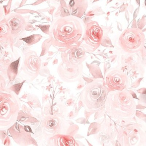 "21"" pink rose blush florals double layer"
