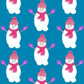 Snowman hugs  // watercolor snowman
