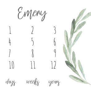 Boho Olive Branch Baby Milestone Blanket