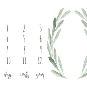 """42""""x36 // Boho Olive Branch Baby Milestone"""