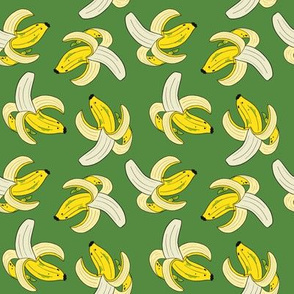Peeled bananas // multi directional green