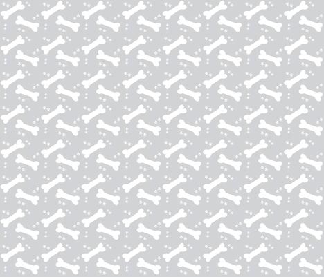 doggie treats gray SMALL263 fabric by drapestudio on Spoonflower - custom fabric