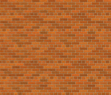 Brown Red Brick Wall fabric by fabric_is_my_name on Spoonflower - custom fabric