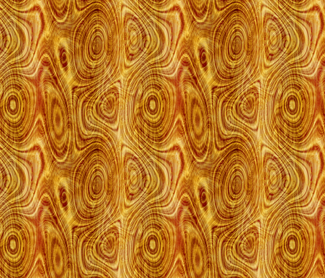 Wood Grain Tree Rings Panel fabric by fabric_is_my_name on Spoonflower - custom fabric