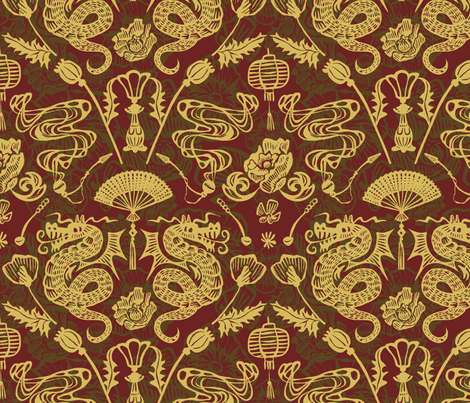 Victorian Vice fabric by seesawboomerang on Spoonflower - custom fabric