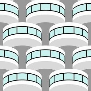 07920254 : art deco bauhaus column pod