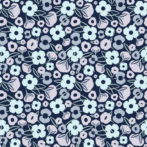 Lilibet Vintage Floral fabric by ms_jenny_lemon on Spoonflower - custom fabric