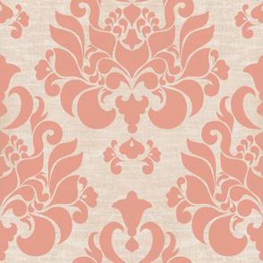 victorian pink damask { large }