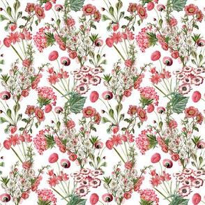 """10"""" Pink Vintage Flowers"""