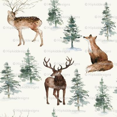 "4"" Winter Woodland Adventure // Spring Wood"