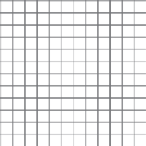Small Scale Gray White Grid Gingham Pattern fabric by alexazurcher on Spoonflower - custom fabric