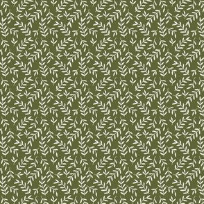 Fall Green Leaves - Small Scale