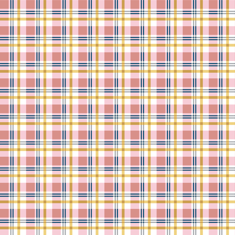 Small Scale Pretty in Pink Plaid fabric by alexazurcher on Spoonflower - custom fabric