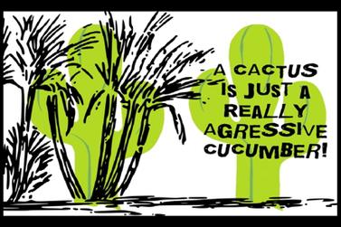 Cactus Pun - 1 fabric by heckadoodledo on Spoonflower - custom fabric