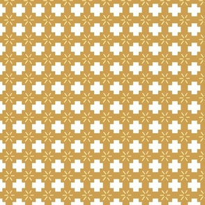 Small Scale Plus Sign Mustard Fall Pattern