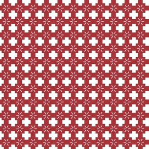 Fall Red Plus Sign Pattern