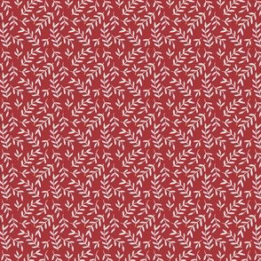 Small Scale Red Leaves