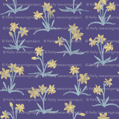 tiny spring quilt daffodils