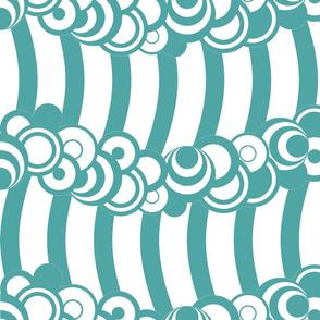 Cindy's Aqua Retro Waves