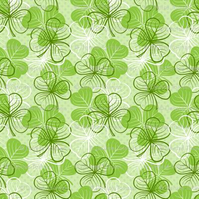 St Patricks Day Clover Green
