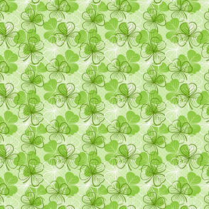 St Patricks Day Clover Green
