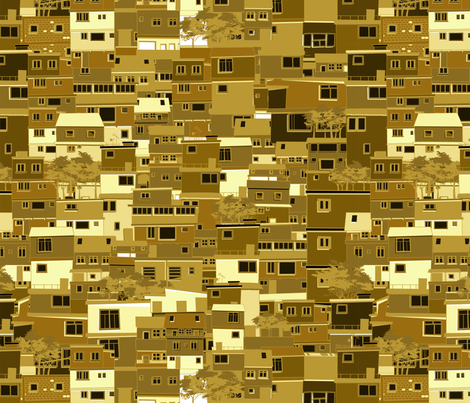 Golden City fabric by fabric_is_my_name on Spoonflower - custom fabric