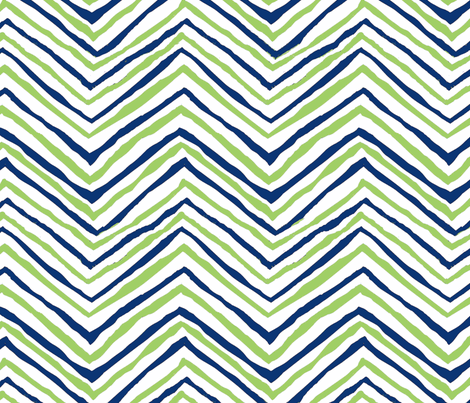 navy bright green zig zag seattle seahawks football lime green and navy fabric by jenlats on Spoonflower - custom fabric