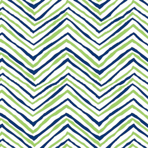 navy bright green zig zag seattle seahawks football lime green and navy