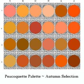 Peacoquette Palette _ Autumn Selection  _ Peacoquette Designgs _ Copyright 2018