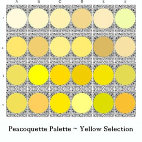 Peacoquette Palette ~ Yellow Selection