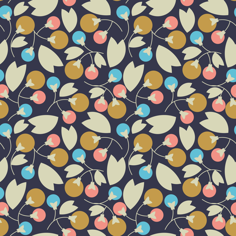 Abstract Woodland Berries fabric by ms_jenny_lemon on Spoonflower - custom fabric