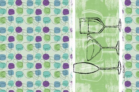 Cheers! Tea Towel  fabric by jamie_kalvestran_scrap-bags on Spoonflower - custom fabric