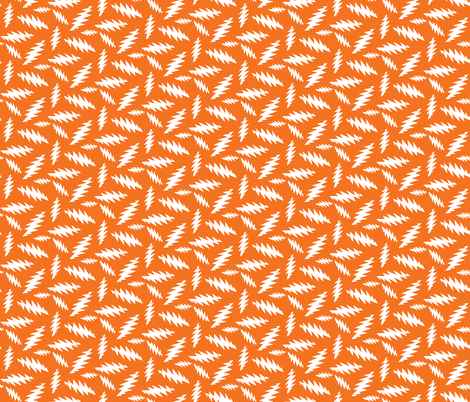 GD Bolt 13 Point Bolt ORANGE  AND WHITE fabric by khaus on Spoonflower - custom fabric