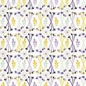 Purple Lavender Leaf Stem
