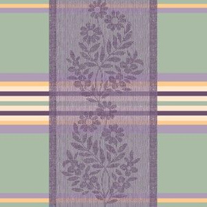 Victorian Stripes with Floral Ribbon