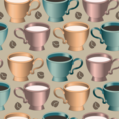 coffee cups taupe