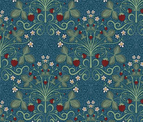 Victorian Strawberrries fabric by new_branch_studio on Spoonflower - custom fabric