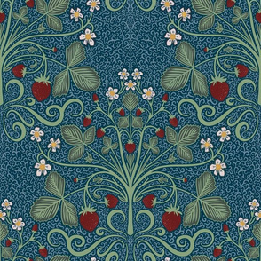 Victorian Strawberrries - blue