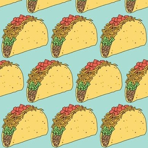 tacos on teal