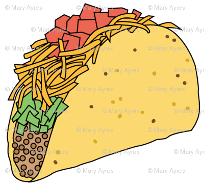 tacos on white