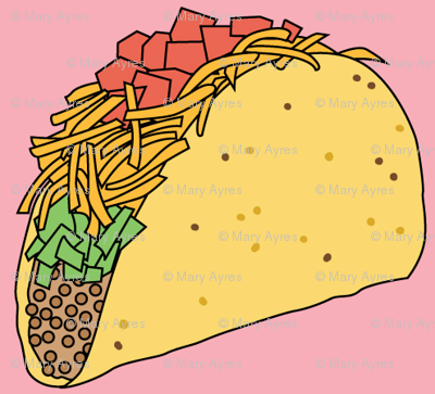 tacos on pink