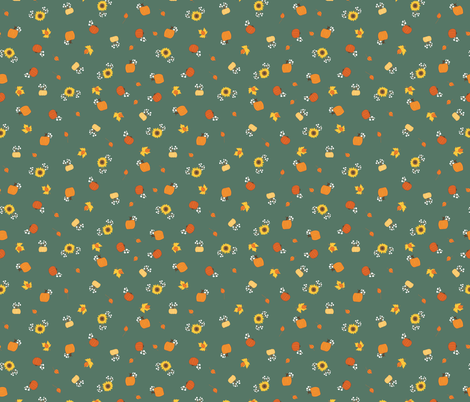 fall ditsies fabric by mae_june_designs on Spoonflower - custom fabric