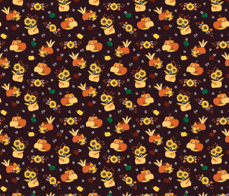 autumn scenes vector repeat pattern fabric by mae_june_designs on Spoonflower - custom fabric