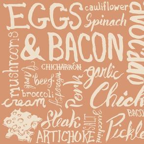 Keto Food Typographic Grid - Nude 1