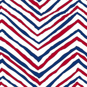 Patriots navy red chevron zig zag july 4th independence day