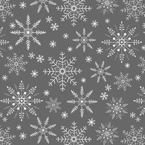 Snowflakes - steel gray