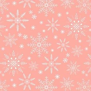 Snowflakes - peach