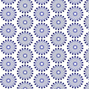Blue & White Abstract Circles