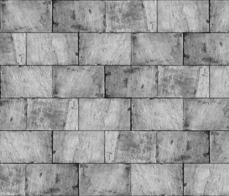Castle Stone Walls ~ Grey   fabric by peacoquettedesigns on Spoonflower - custom fabric